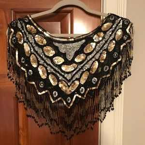 Vintage Beaded Dress Topper